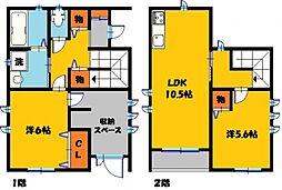 リアン・ド・江曽島 1階2LDKの間取り