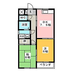 関口ハイツ[2階]の間取り