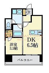 LANDIC 美野島3丁目 5階1DKの間取り