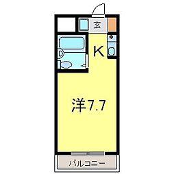 青山ハウス[3B号室]の間取り