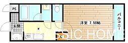 大阪府堺市北区百舌鳥本町3丁の賃貸アパートの間取り