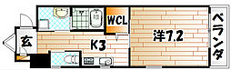 ウィングス重住[4階]の間取り