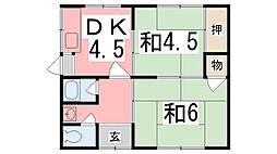 [一戸建] 兵庫県姫路市飾磨区今在家北 の賃貸【兵庫県 / 姫路市】の間取り