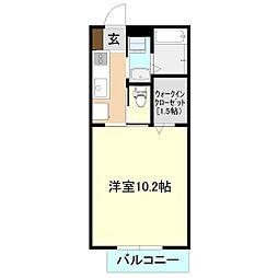 グレースタウンII[1階]の間取り