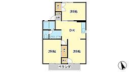 兵庫県姫路市白国4丁目の賃貸アパートの間取り