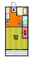 池田コーポII[101号室]の間取り