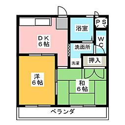K&S徳重[2階]の間取り