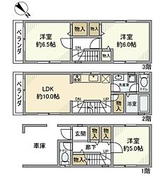 [一戸建] 神奈川県横浜市鶴見区江ケ崎町 の賃貸【/】の間取り