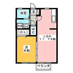 セジュールカメリア[2階]の間取り