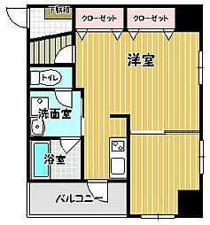 福岡県福岡市早良区藤崎1丁目の賃貸マンションの間取り