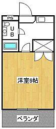 ドミール井ヶ谷[2階]の間取り