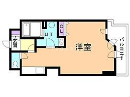 UURコート札幌南三条プレミアタワー 17階ワンルームの間取り