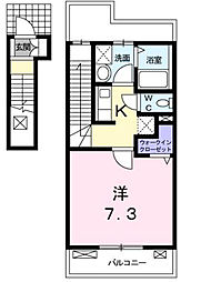 東京都昭島市緑町4丁目の賃貸アパートの間取り