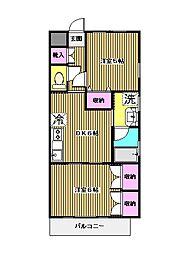 東京都板橋区高島平4丁目の賃貸マンションの間取り