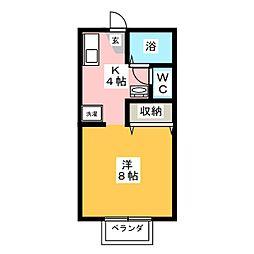 コーポラスYOU B棟[2階]の間取り
