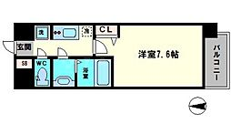 アドバンス大阪城シュアーヴ 6階1Kの間取り