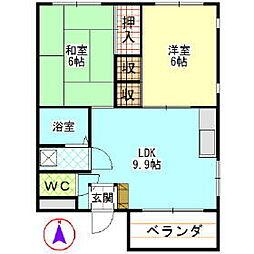 第一青木ビル[302    号室]の間取り