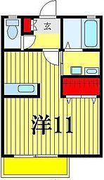 EXCEL COURT[2階]の間取り
