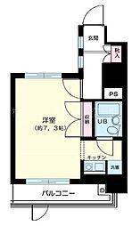 コスモ横浜吉野町[9階]の間取り