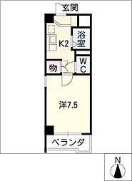 ウィステリア辰巳[4階]の間取り