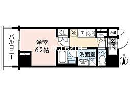 リーガル南船場III 4階1Kの間取り
