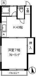 第2芭蕉苑[2-E号室]の間取り