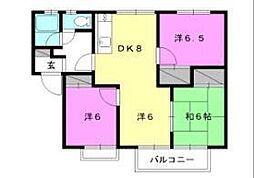 イースタンハイツA・B・C[B-101 号室号室]の間取り