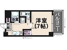 福岡県福岡市南区清水4丁目の賃貸マンションの間取り