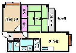 メゾンミヤマエ[3階]の間取り