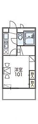 滋賀県大津市坂本2の賃貸アパートの間取り