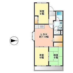 サンシャインITO[2階]の間取り