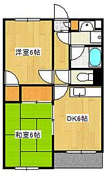 サンハイム徳倉[3階]の間取り