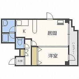 フェリスカーサN20[6階]の間取り
