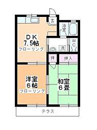 キャッスル柳澤 B[B-102号室]の間取り