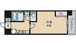 クレール南堀江[5階]の間取り