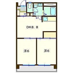 イ−グルハイツ[406号室]の間取り