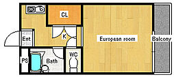 ネオコーポイケダヤ1号館[4階]の間取り