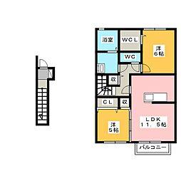 スぺチアーレII[2階]の間取り