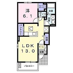 徳島県板野郡藍住町富吉字穂実の賃貸アパートの間取り