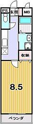 プリジェール紫野[203号室]の間取り