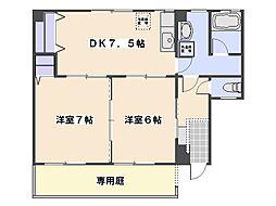 甲島ビル[1階]の間取り