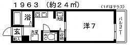セルティアC[C201号室号室]の間取り