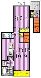 プラムヒルズI[2階]の間取り