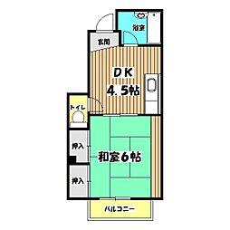 東京都昭島市宮沢町2丁目の賃貸マンションの間取り