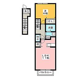 セレーノ A棟[2階]の間取り