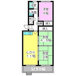 福岡県福岡市博多区月隈3丁目の賃貸マンションの間取り