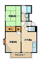 サニーベル[1階]の間取り