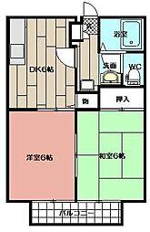 ウインディア赤坂 B棟[101号室]の間取り