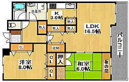 KOKOレジデンス A棟[6階]の間取り