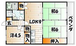 第28プリンスマンション[4階]の間取り